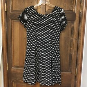 Black and white polka dot dress by Gap size 10
